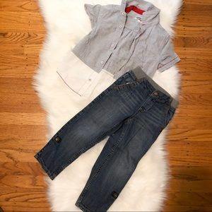 Kids 2pc Boy Set Jeans/Shirt 4T/5T